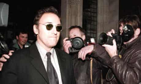 Bruce Springsteen arriving at the high court