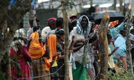 Menik Farms refugee camp in Sri Lanka