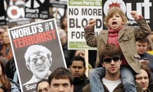 Anti-war demonstration in London in 2008
