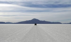 Salt desert in Bolivia