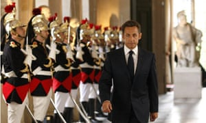Nicolas Sarkozy at the Versailles Palace