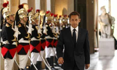 Nicolas Sarkozy at the Versailles Palace