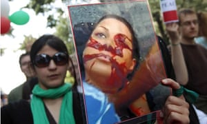 Iran demonstrators in Berlin