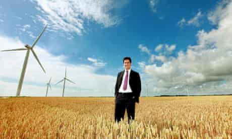 Ed Miliband at the opening of Little Cheyne Court wind farm