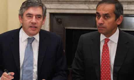 Gordon Brown with Lord Darzi