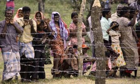Manik Farm camp in Sri Lanka
