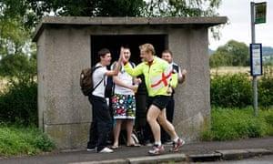 Eddie Izzard running for Sport Relief Charity
