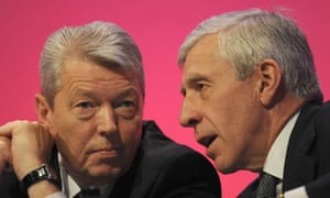 Alan Johnson and Jack Straw at the Labour conference
