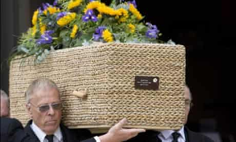 Keith Floyd's coffin