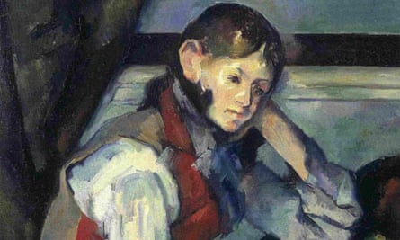 Detail from Paul Cézanne's The Boy in the Red Vest