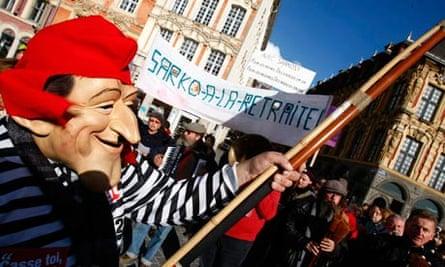Lille pension reform demonstration