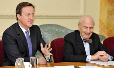 David Cameron and Lord Young