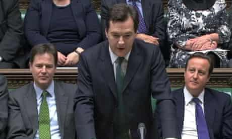 Britain's Finance Minister George Osborne addresses parliament in London
