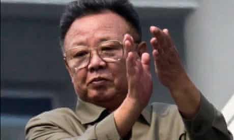 File photo of North Korean leader Kim Jong-il in Pyongyang