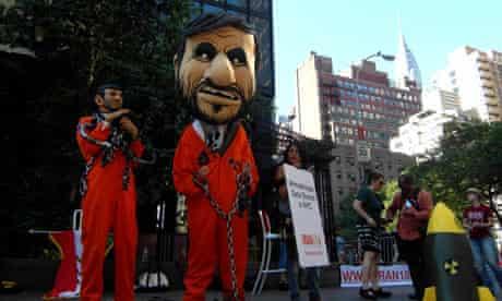 Human caricatures of Mahmud Ahmadinejad