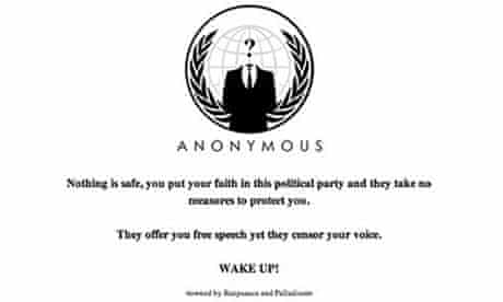 Fine Gael website comes under attack