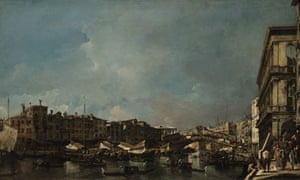 Francesco Guardi painting of the Grand Canal, Venice