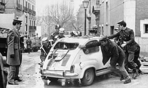Luis Carrero Blanco assassination in Madrid, 1973