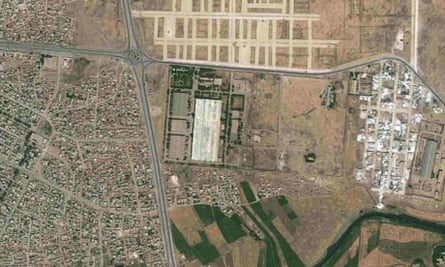 Satellite image of facility in Hasakah, Syria