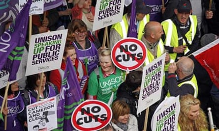 March against spending cuts