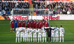 Gary Speed tribute at Swansea v Aston Villa match
