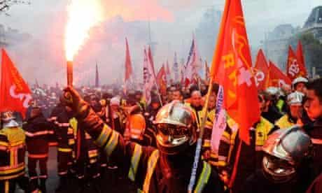 Firefighters in Paris