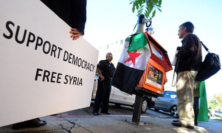Syrian protesters in America
