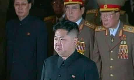 Kim Jong-un pays his respects to his father