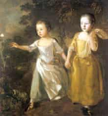 The Painter's Daughters Chasing a Butterfly