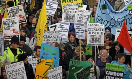 Climate change demonstration in London