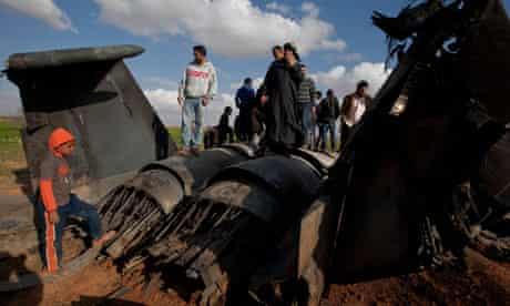 Libya: crashed US plane