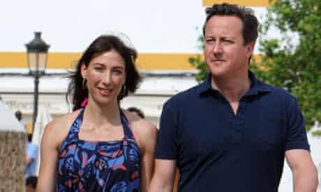 Camerons on holiday