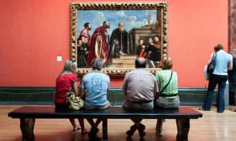 The Vendramin Family by Titian in the National Gallery London England Britain UK