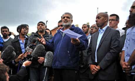 Tariq Jahan speaks to the media