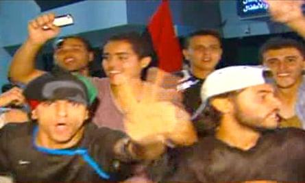 Libyans celebrate in Tripoli