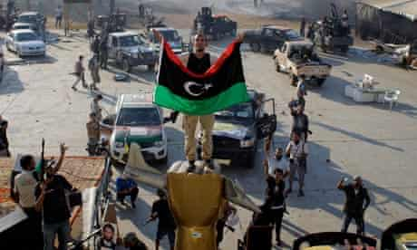 Libyan rebel in Bab al-Aziziya