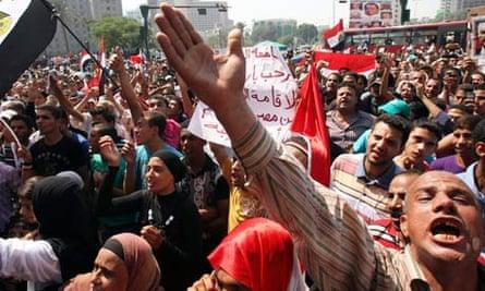 Protest in Tahrir Square, Egypt