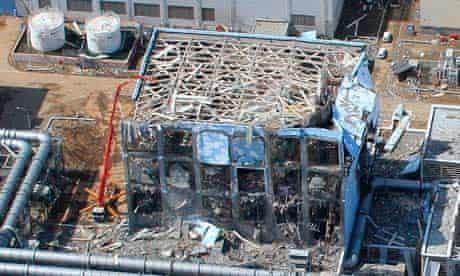 Aerial view of the Fukushima Daiichi nuclear power