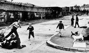 Catholic Children Fighting in Belfast