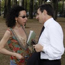 Yasmina Reza and Nicolas Sarkozy