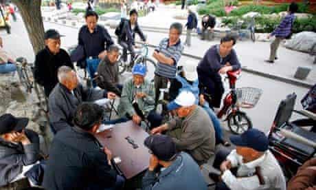 China Elderly Playing Domino