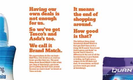 Sainsbury's ad campaign misleading