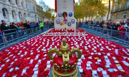 Poppies at the Cenotaph, London