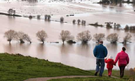 Flooding at Glastonbury Tor