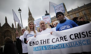 Care Groups Demonstrate In Westminster