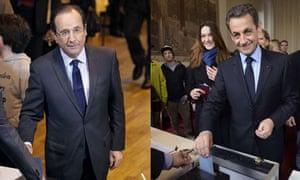 Hollande and Sarkozy