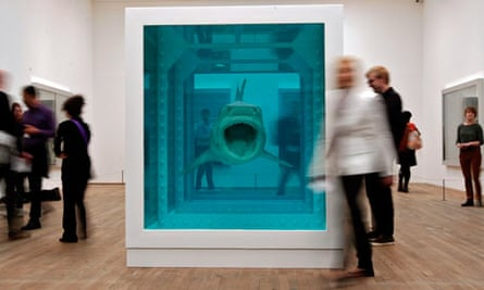 Damien Hirst retrospective exhibition at Tate Modern