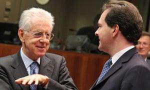 Mario Monti, George Osborne