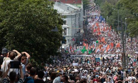 Kremlin chemicals induced storm to rain on anti-Putin parade