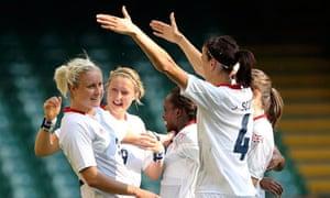 Team GB's Stephanie Houghton celebrates a goal